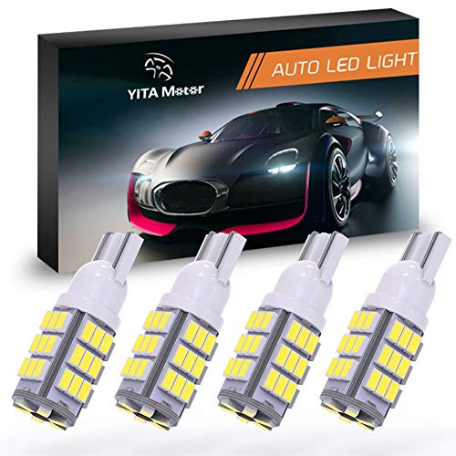 YITAMOTOR T10 42-SMD RV Trailer Car Backup Reverse White LED Light Bulb 194 912 906 168 192 Pack of 4