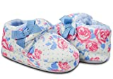 LA PLAGE Girl's Cute Soft Cotton Slippers with Beautiful Flower Size 5 US Toddler Flower