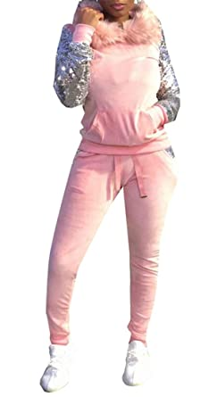 dahuo - Chándal - para Mujer Rosa Rosa M: Amazon.es: Ropa y accesorios