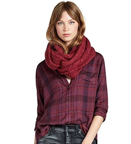 Lucky Brand - Women's - Brushed Wool Blend Cable Knit Infinity Loop Scarf (Red)