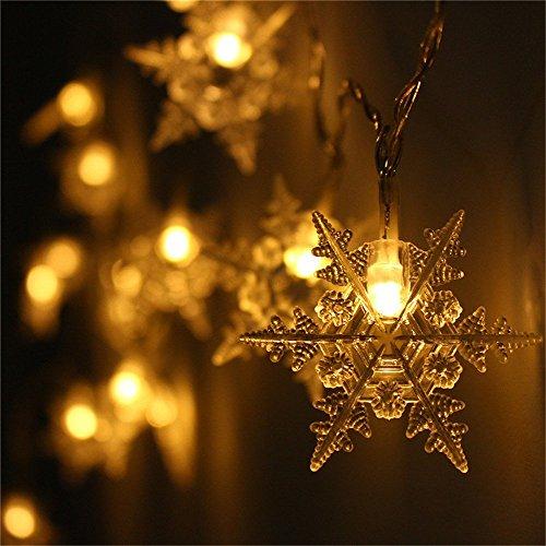 Christmas 20 Led Snowflake Fairy Curtain String Lights