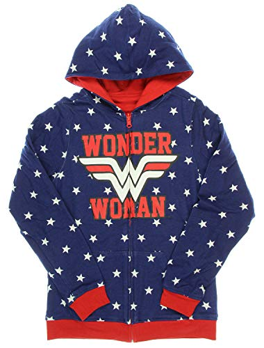 Wonder Woman Reversible Juniors Zip Up Hoody XL for sale  Delivered anywhere in USA