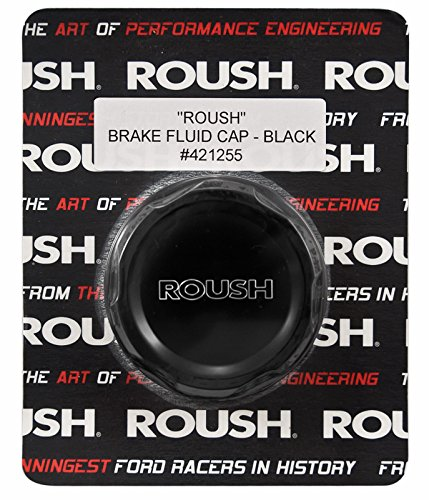 2005-2014 Mustang Roush Black Engraved Billet Brake Fluid Cap -