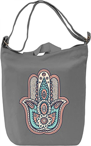 Hamsa Borsa Giornaliera Canvas Canvas Day Bag| 100% Premium Cotton Canvas| DTG Printing|