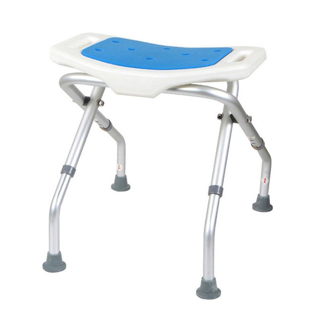 ハンドルバスベンチヘビーデューティマックスと障害者/高齢者/妊娠中の女性のための3の高さで調節可能な折り畳み式のシャワー/バススツールアルミニウム合金シャワー折りたたみシート椅子障害者支援曲面シートのシャワーチェアアンチスリップマット。 136kg   B07F32P2KF