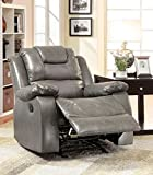 Furniture of America Steely Recliner Chair