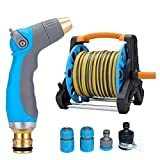 Watering Can Garden Hoses High Presure Nozzle Reels 3 Ways Showers Car Cleaning Flower Watering Spray Supplies Garden Car Wash Watering Equipment Nozzles Spray A+ (Size : 10M)