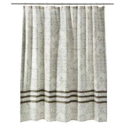 Amazon Com Threshold Shower Curtain Ivory Ruffle 72 X 72