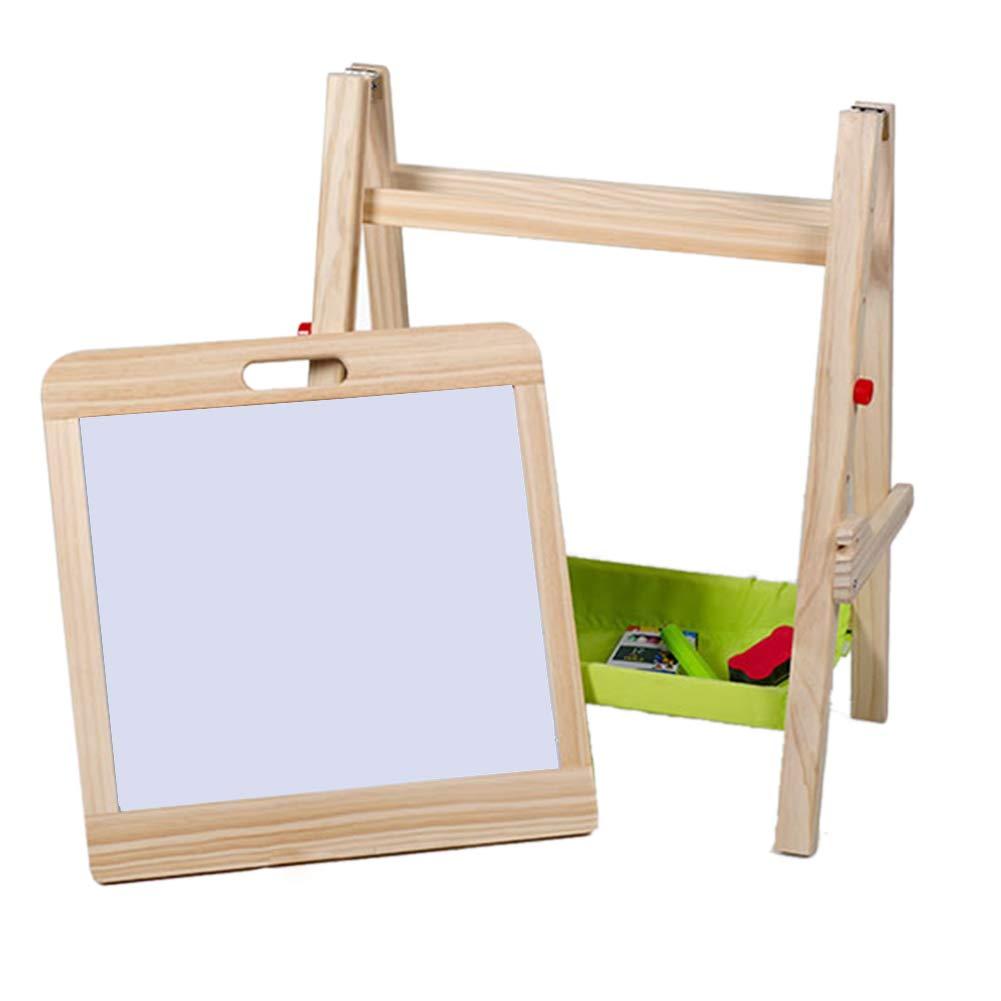 子供の木製イーゼル描画ボード両面磁気塗装ライティングボード   B07HB17MC4