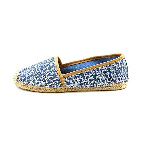 Tommy Hilfiger Women's Heyda Boat Shoe,Blue/Multi,9 M US