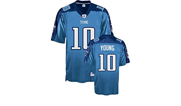 Amazon.com   Vince Young Youth Jersey  Reebok Light Blue Replica  10  Tennessee Titans Jersey - Small (8)   Athletic Jerseys   Clothing 1142a312a