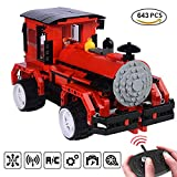 (US) FreeBex Locomotive Train Blocks Toy 613pcs Remote Control Electric Car Building Kits with USB Rechargeable Battery Creative Birthday Gift for Kids Age 6+