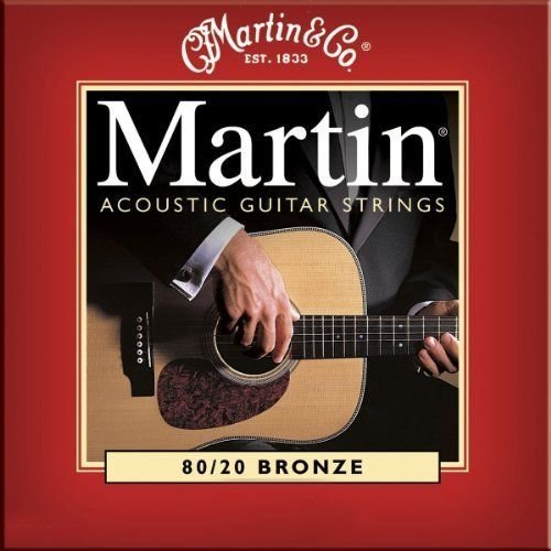 Martin M140 Bronze Acoustic Guitar Strings, Light (Martin Acoustic Guitar Strings)