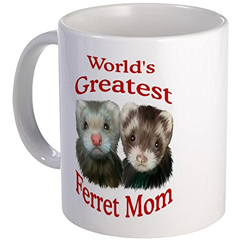 (CafePress World's Greatest Ferret Mom Mug Unique Coffee Mug, Coffee)