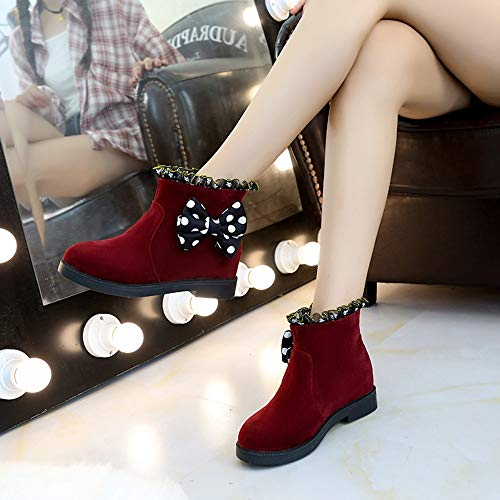 Chaud Imperméable De Slip Chaussures Femmes Suède Boot Femme Peluche Lined Neige Manadlian Plates Hiver Bottes On Rouge xwBq1UY00