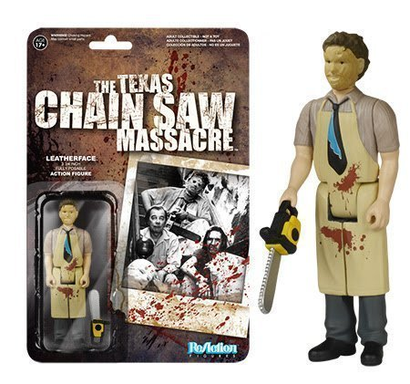 The Texas Chainsaw Massacre Leatherface ReAction 3 3/4-Inch Retro Action Figure by The Texas Chainsaw