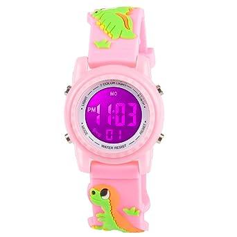 Amazon.com: Venhoo Kids Relojes 3D de dibujos animados ...