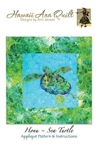 Amazon com: SEA TURTLE Ocean Quilt Pattern Hawaiian Honu Tropical
