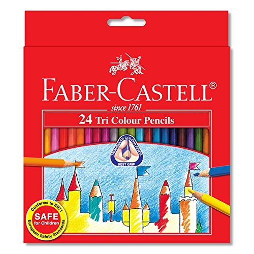 Faber-castell Soft Lead-no Pressure Required Tri-colour Pencils (Set of 24)