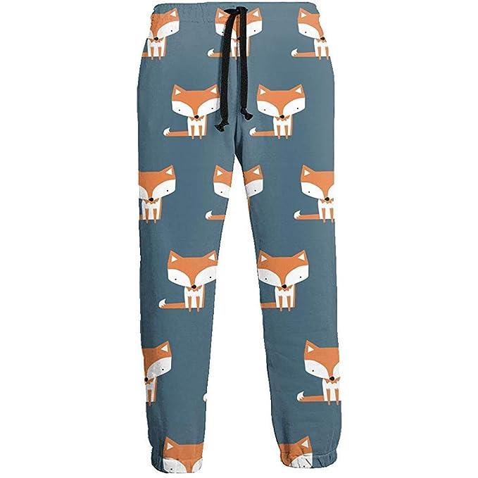 Single Cute Fox Pantalones de chándal para Hombre Pantalones ...