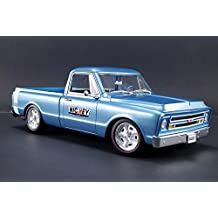 1967 Chevy C-10 Nickey Custom Shop Pickup Truck, Marina Blue - Acme 1807205 - 1/18 Scale Diecast Model Toy Car