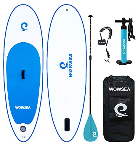 WOWSEA Inflatable Stand Up Paddle Board for Teenagers and Children - Size7'8 (223 68 15cm)- Load up to 176lbs/80kg