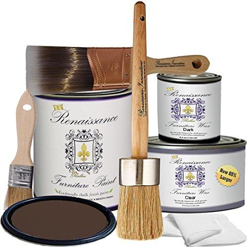 Retique It RFP-DSKit-ArabianCoffee by by Renaissance Chalk Finish Paint, Deluxe Starter Kit, Arabian Coffee 06