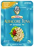 Season All Natural Albacore Tuna in Water, 3-Ounce Pouches (Pack of 12)