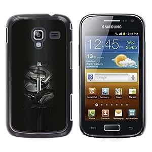 Caucho caso de Shell duro de la cubierta de accesorios de protección BY RAYDREAMMM - Samsung Galaxy Ace 2 - Y ahora mi reloj comienza Jon Nieve