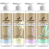 ArtNaturals Natural Hand Sanitizer Gel – (4 x 7.4 Oz) – Made with Essential Oils, Jojoba Oil, Aloe Vera and Glycerin Infused Formula - Set Includes Scent Free, Coconut, Lavender and Tea Tree