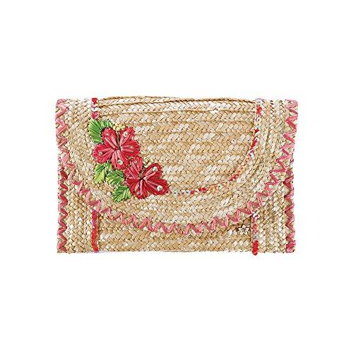 - Small Clutch for Women - Cappelli Straworld Luxury Wheat Braid Bag - Envelope Bag Wallet Summer Beach Bag