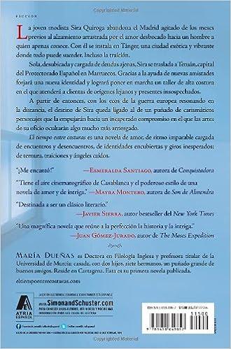 Amazon.com: El tiempo entre costuras: Una novela (Atria Espanol ...