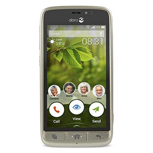 Doro 8031 4G Smartphone (11,4 cm (4,5 Zoll), LTE, 5 MP Kamera, Android 5.1) champagner