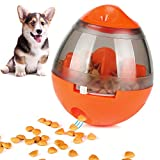 ONSON Interactive Dog Toy - Food Dispenser Ball Toy for Small Medium Large Dogs Durable Chew Ball - Boredom Puzzle Toys Food Slow Feeder Tumbler IQ Treat Ball (Interactive Dog Toy - Orange)