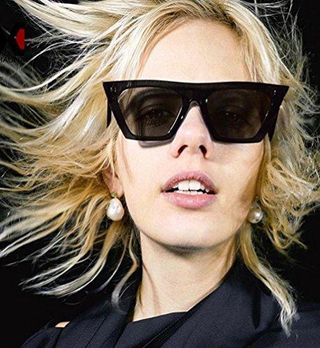 Gato Gafas Polarizadas Colorido Negro Sol Gafas De Salvaje Ojo Marco Gris Ketamyy De Personalidad Unisexo Ew0q04R