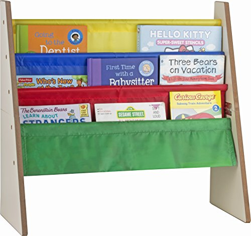 Sagler 4 pockets book shelf and magazine rack - Toddler-sized book rack for Kids and book organizer for (Kids Bookshelf)