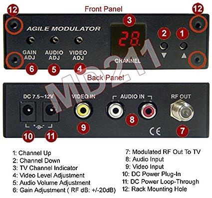 All Channel NTSC Composite Video Audio To RF Coax Modulator