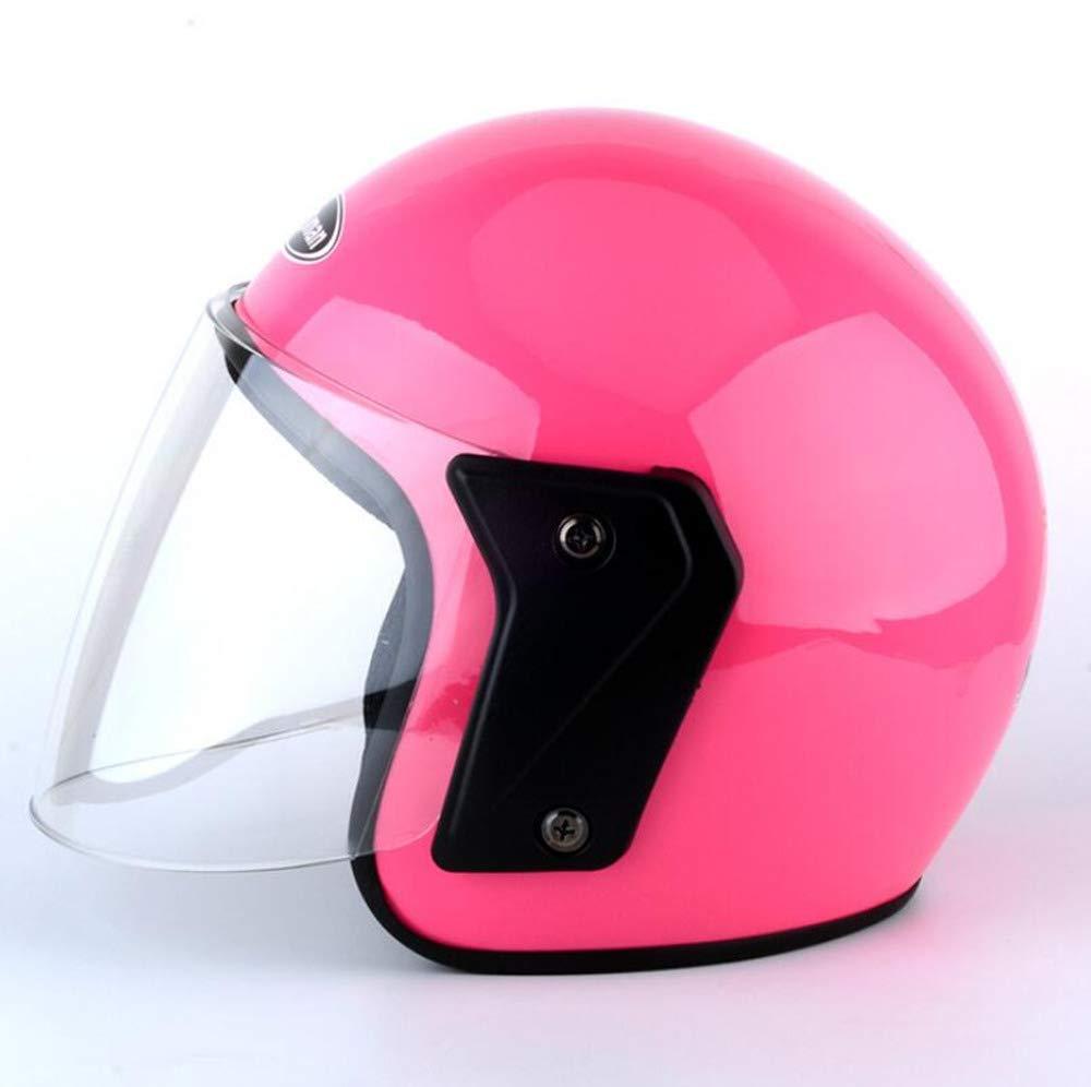 Ecloud Shop Motorcycle Visor Flip up Modular Half Helmet with Sunshield for Men /& Women Electric Car Helmet, Bicycle Helmet(Black