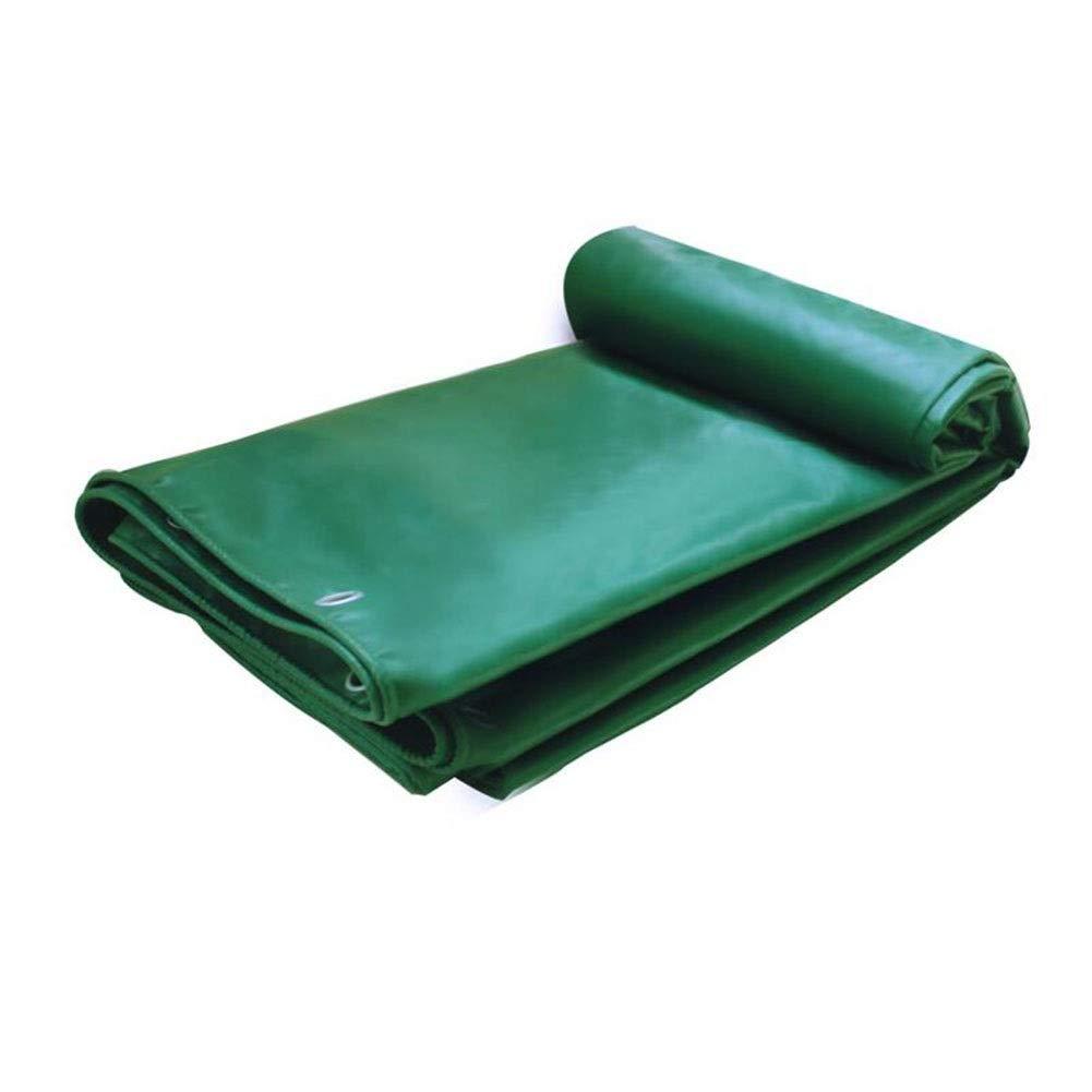 vert 6x6m CJC Voiles d'ombrage Multi-Purpose BÂches à Toute épreuve De Plein Air BÂche Couverture De Camping 100% étanche - 530g m² - Epaisseur 0.4mm (Couleur   vert, Taille   2x3m)