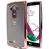 LG G4 Case, [Ultra Slim Fit] Goospery® Ring 2 Jelly Case [Metallic Edge Finish] Premium TPU Case Cover [Anti-Yellowing / Discoloring Finish] for LG G4 - Rose Gold