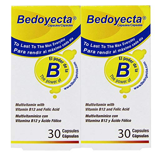 Bedoyecta Multivitamin, 30 Capsules Each (Pack of 12)