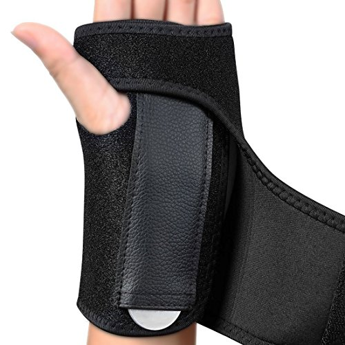 Nlife Adjustable HAND BRACE, WRIST WRAP, HAND SUPPORT Carpal Tunnel Splint Arthritis Sprains Strain Best for Exercise, Martial Arts, Tennis, Bike, and Motorcycle