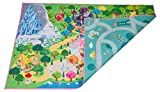 MMP Living Kids Double Sided Felt Play mat - 2 in 1 Princess & Town, Indoor/Outdoor, Machine Washable 59'' L x 39'' W