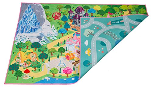 Kids Double Sided Felt Play Mat - 2 in 1 Princess & Town, Indoor/Outdoor, Machine Washable 59