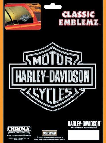 harley davidson emblems chrome - 4