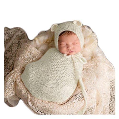 2c3d67457 Handmade Cute Newborn Baby Photography Photo Props Boy Girl Outfits Cute  Sleeping Bag (Beige)