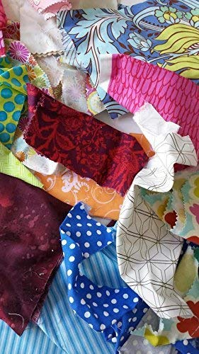 Designer Cotton Fabric Scraps,Fabric Strips, Fabric Pieces, Remnants, Scrap Bag