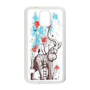 Best Quality [LILYALEX PHONE CASE] Vintage Elephant For Samsung Galaxy S5 CASE-8