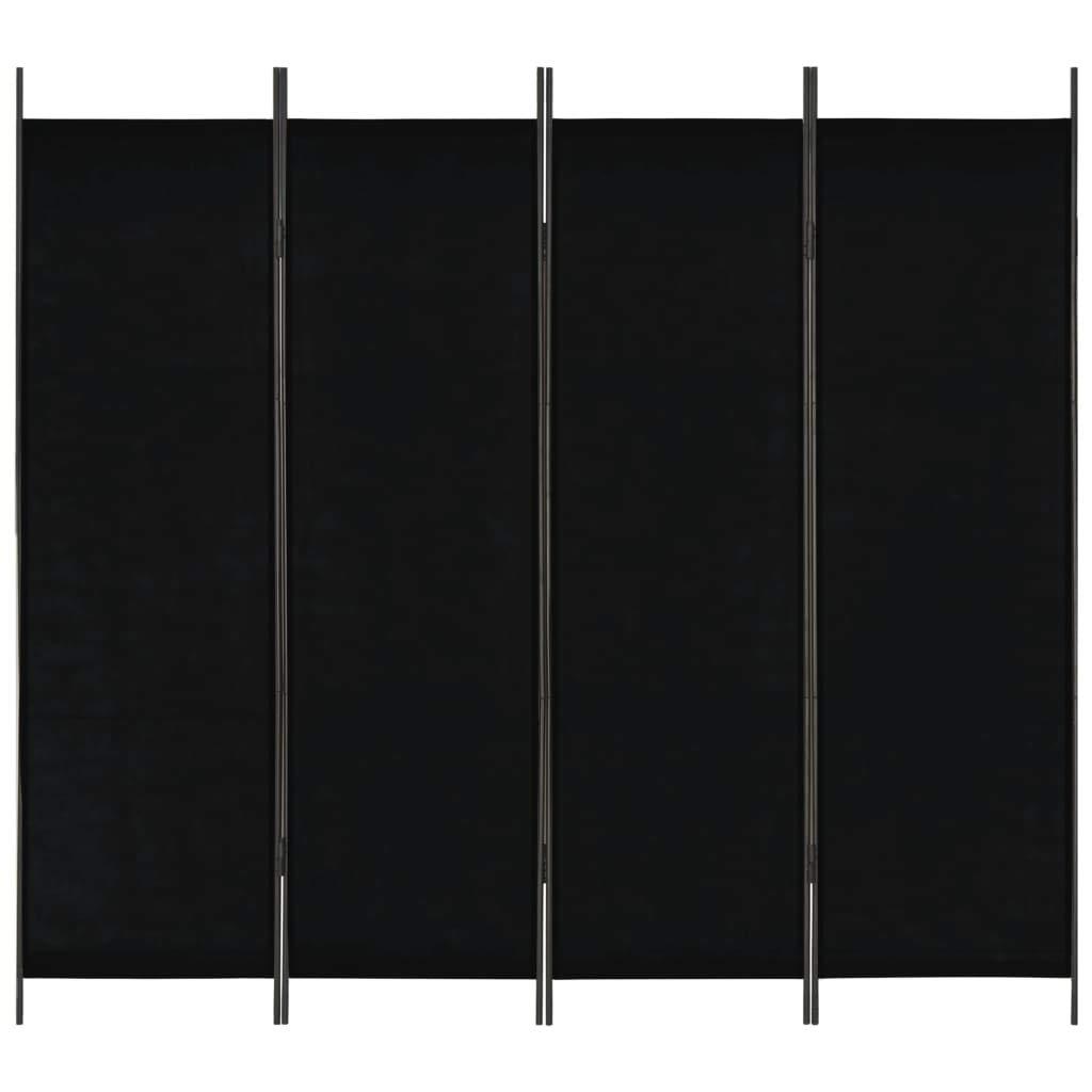 Dormitorio Festnight Biombo Divisor Plegable Dise/ño de 4 Paneles Tela Negro 200x180 cm para Crear Privacidad para Habitaciones