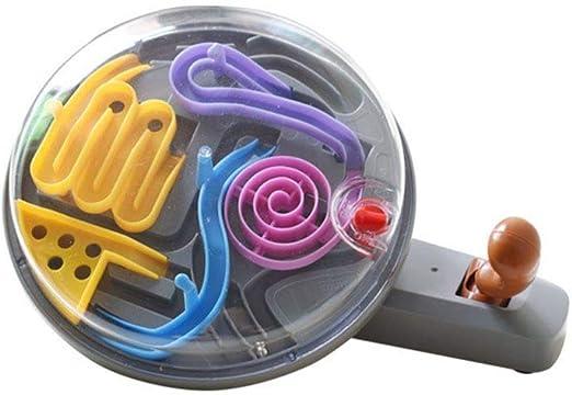 F-blue Mango de Rompecabezas en 3D intelecto Bola de Educación Laberinto Juego Pelotas de Juguete IQ Equilibrio Educativo Laberinto Bola Divertido Juguete Juego de Mesa: Amazon.es: Hogar